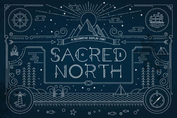 Print on Demand: Sacred North Display Font By Jonas Stensgaard