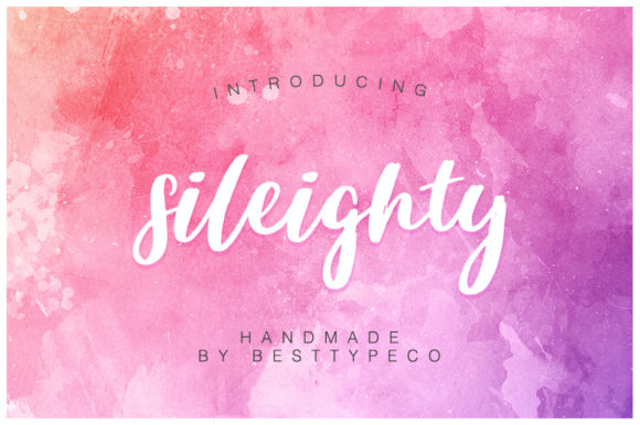 Print on Demand: Sileighty Script & Handwritten Font By besttypeco