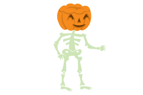 Download Free Skeleton With Jack O Lantern Head Svg Cut File By Creative for Cricut Explore, Silhouette and other cutting machines.