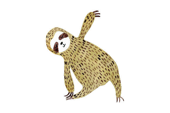 Sloth Doing Yoga - Watercolor Style Craft Design By Creative Fabrica Crafts Image 1