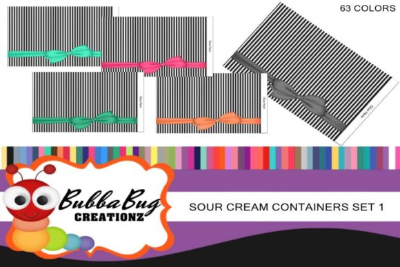 Sour Cream Container Set 1 Graphic Crafts By BUBBABUG - Image 1