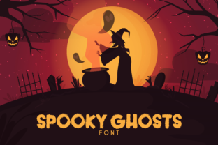 Spooky Ghosts Font By RainbowGraphicx