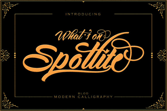 Print on Demand: Spotlite Bold Script & Handwritten Font By sapre.studio