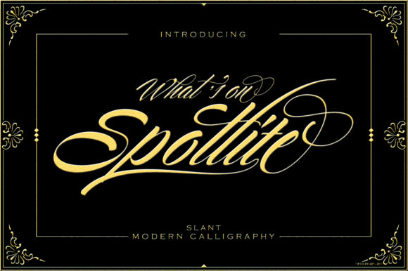 Print on Demand: Spotlite Slant Script & Handwritten Font By sapre.studio