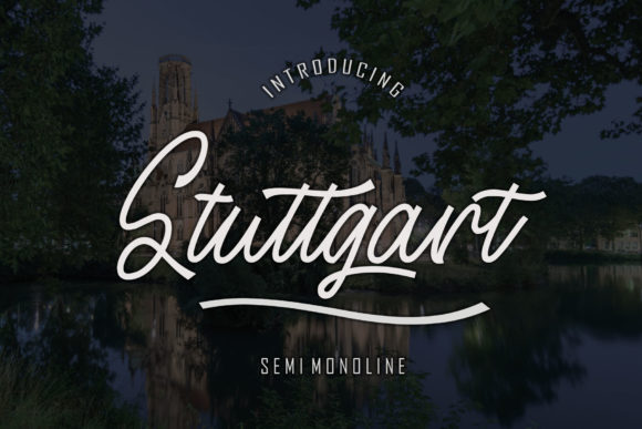 Print on Demand: Stuttgart Script & Handwritten Font By Sinfa.co