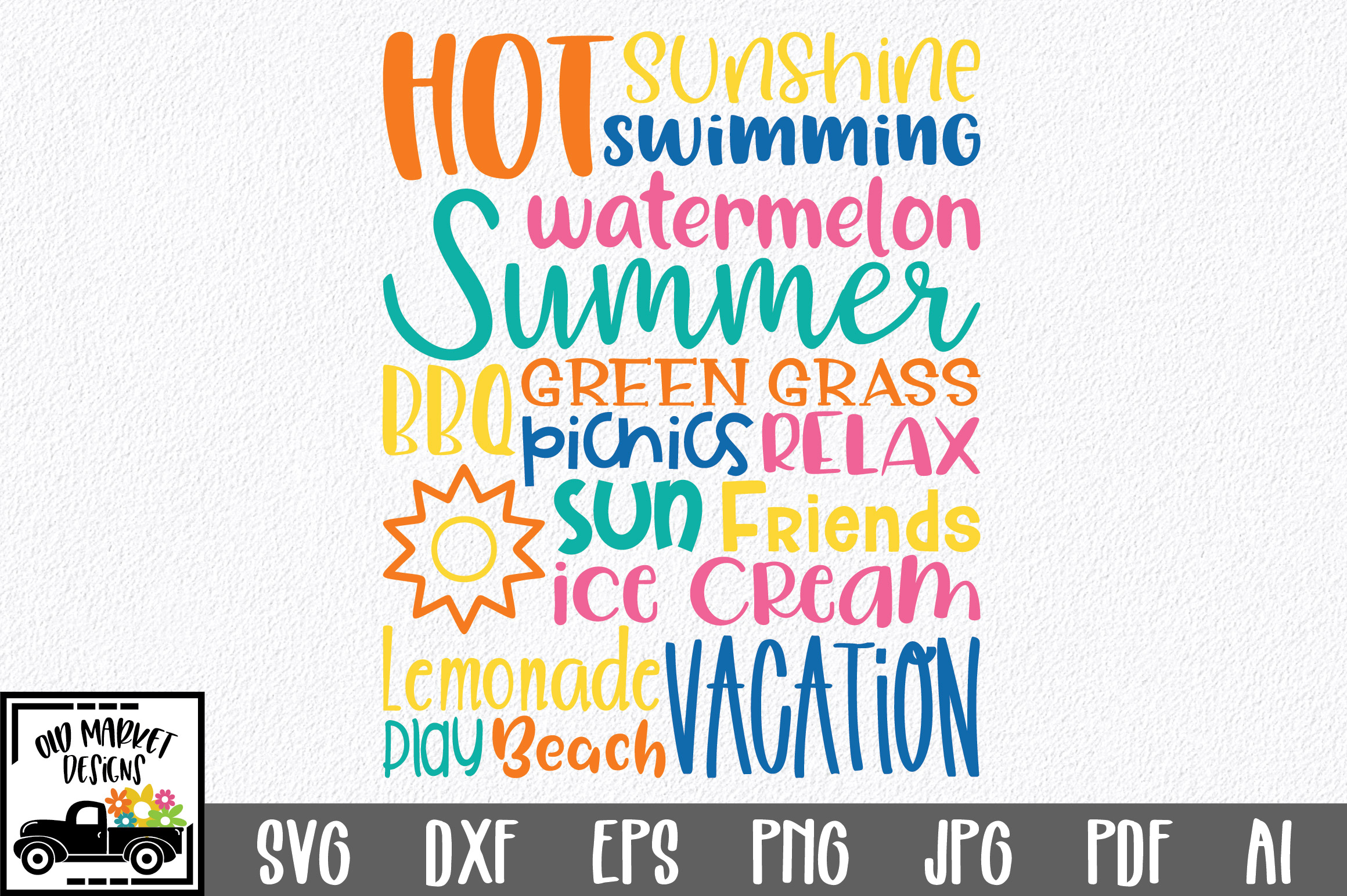 Download Free Summer Subway Art Graphic By Oldmarketdesigns Creative Fabrica for Cricut Explore, Silhouette and other cutting machines.