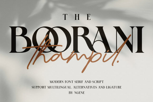 Print on Demand: The Boorani Thampil Duo Display Font By Ngene