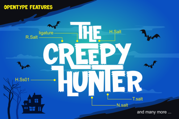 Print on Demand: The Creepy Hunter Display Font By fachranheit - Image 3