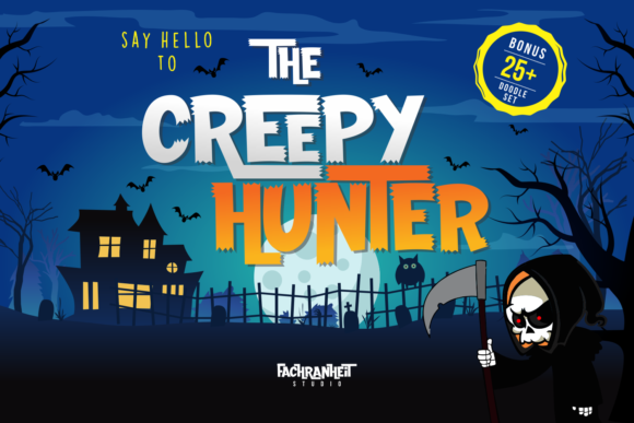 Print on Demand: The Creepy Hunter Display Font By fachranheit - Image 1