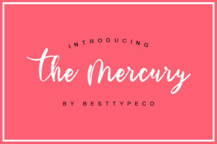 The Mercury Font By besttypeco