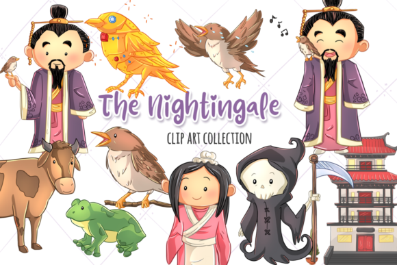 Print on Demand: The Nightingale Clip Art Collection Graphic Illustrations By Keepinitkawaiidesign