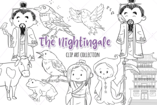 The Nightingale Digital Stamps Graphic By Keepinitkawaiidesign