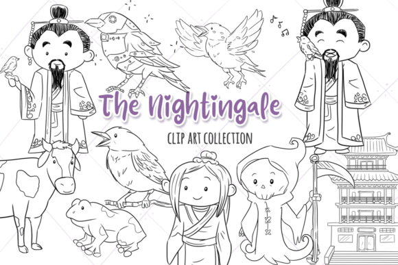 Print on Demand: The Nightingale Digital Stamps Graphic Illustrations By Keepinitkawaiidesign
