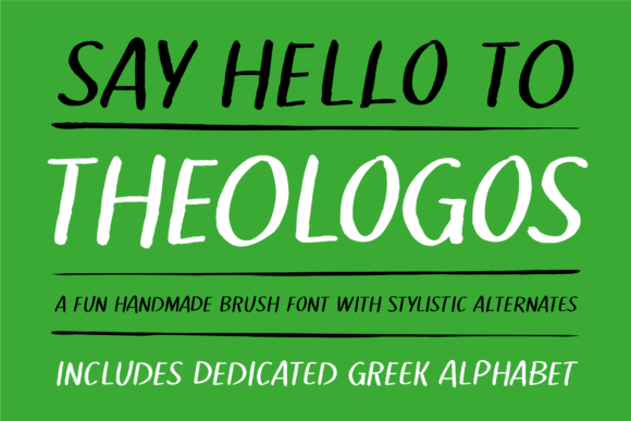Print on Demand: Theologos Decorative Font By georgebourle