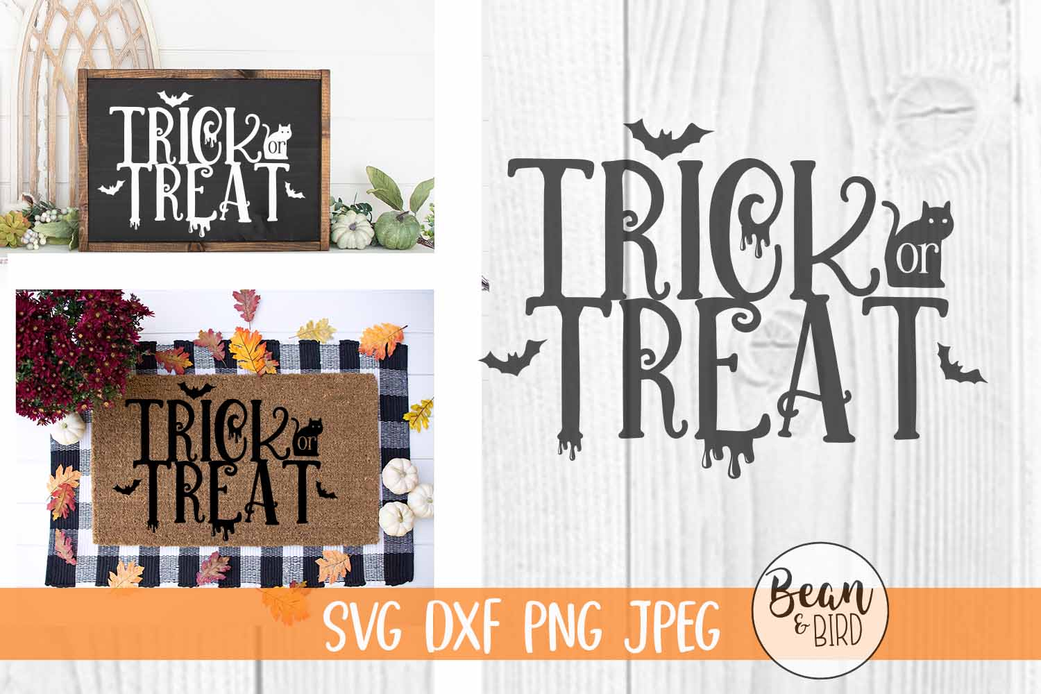 Download Free Trick Or Treat Graphic By Jessica Maike Creative Fabrica for Cricut Explore, Silhouette and other cutting machines.