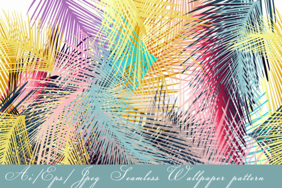 Tropical Vector Colorful Pattern Graphic Patterns By fleurartmariia