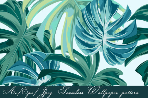 Download Free Tropical Vector Seamless Pattern Graphic By Fleurartmariia for Cricut Explore, Silhouette and other cutting machines.