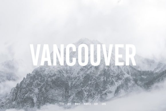 Print on Demand: Vancouver Sans Serif Font By Webhance - Image 2