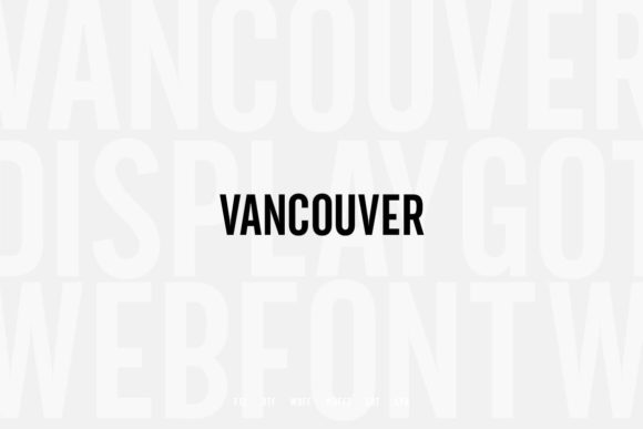 Print on Demand: Vancouver Sans Serif Font By Webhance - Image 3
