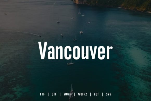 Print on Demand: Vancouver Sans Serif Font By Webhance - Image 4