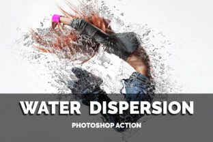 Water Dispersion Photoshop Action Graphic By jubair_haider