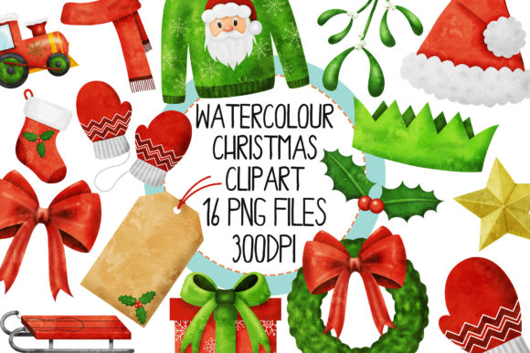 Watercolor Christmas Set 3 Graphic By The_Laughing_Sloth_Digital