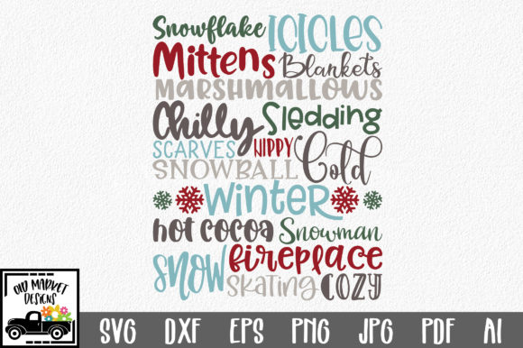 Print on Demand: Winter Subway Art Graphic Crafts By oldmarketdesigns