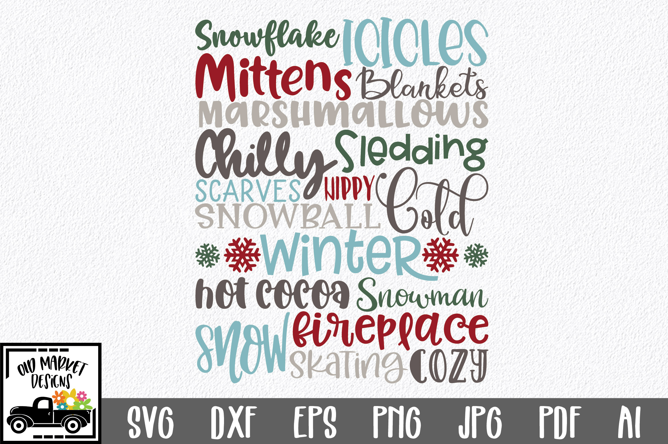 Download Free Winter Subway Art Graphic By Oldmarketdesigns Creative Fabrica for Cricut Explore, Silhouette and other cutting machines.