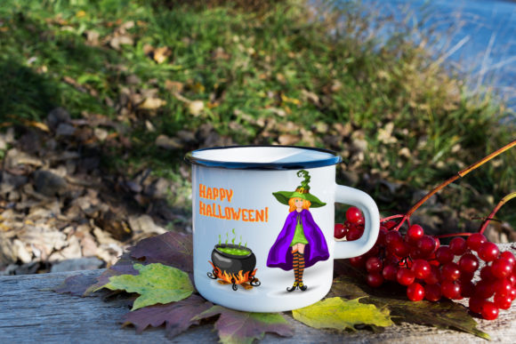 Print on Demand: Witch, Cauldron and Halloween Title Graphic Illustrations By TasiPas - Image 2