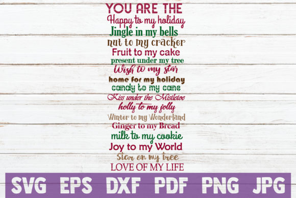 You Are the Happy to My Holiday Graphic Graphic Templates By MintyMarshmallows