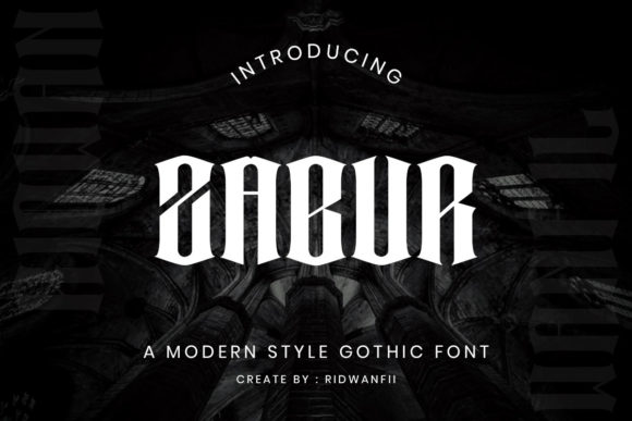 Print on Demand: Zabur Blackletter Font By fadilahridwan69