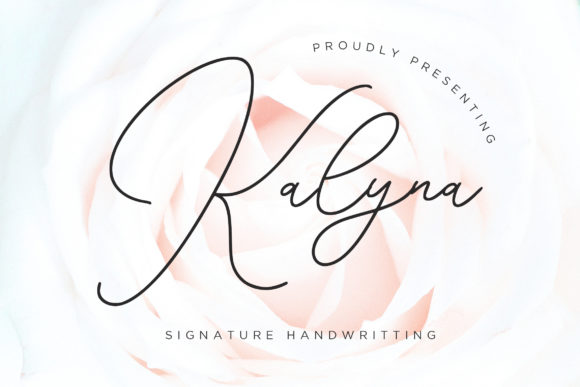 Print on Demand: Kalyna Script & Handwritten Font By CreatypeStudio