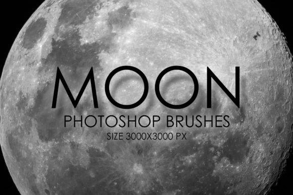 Print on Demand: 8 High Quality Moon Brushes Graphic Brushes By denestudios