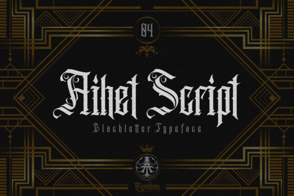 Print on Demand: Aihet Script Blackletter Font By typealiens