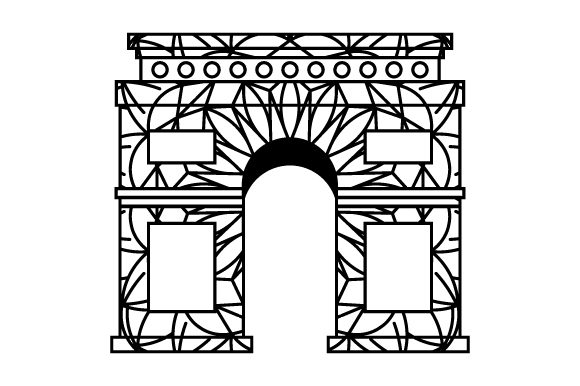 Download Free Arc De Triomphe Mandala Style Svg Cut File By Creative Fabrica for Cricut Explore, Silhouette and other cutting machines.