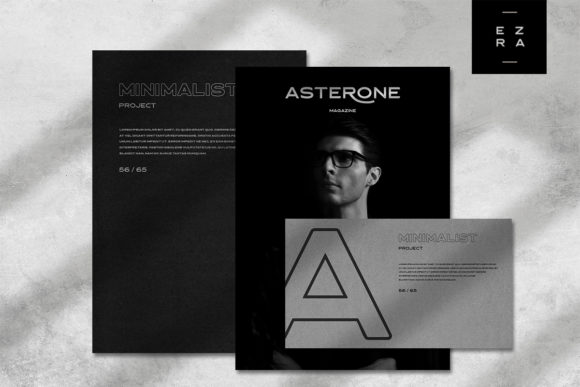 Print on Demand: Asterone Sans Serif Font By letterhend - Image 3