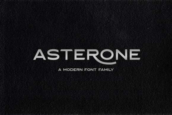 Print on Demand: Asterone Sans Serif Font By letterhend