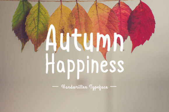 Print on Demand: Autumn Happiness Script & Handwritten Font By Instagram Fonts