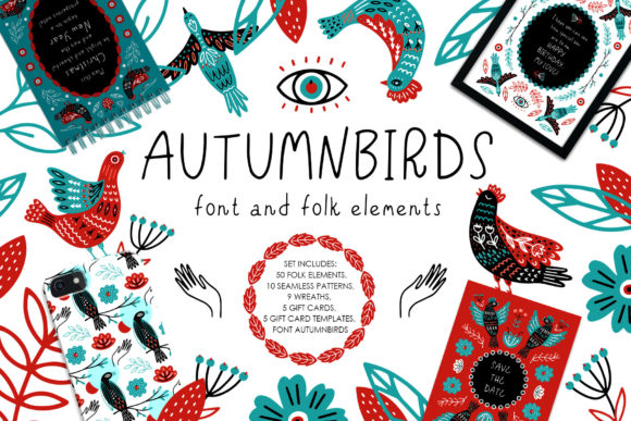 Autumnbirds Display Font By Juliya Kochkanyan
