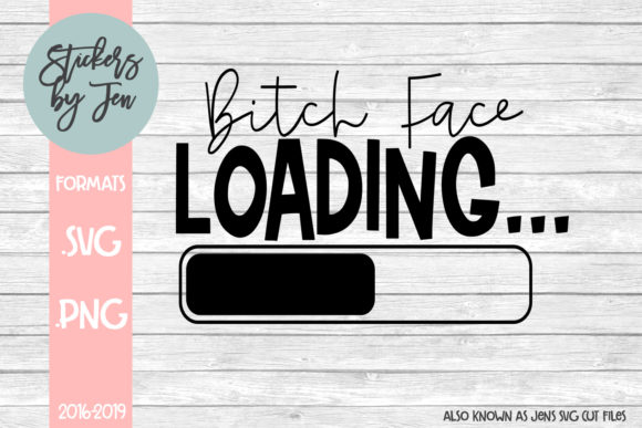 Download Free B Face Loading Graphic By Stickers By Jennifer Creative Fabrica for Cricut Explore, Silhouette and other cutting machines.