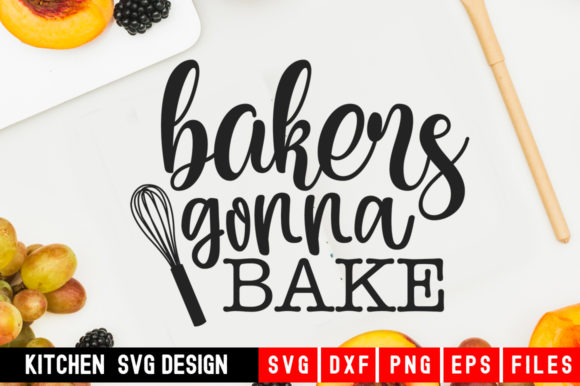 Download Free Bakers Gonna Bake Graphic By Designdealy Com Creative Fabrica for Cricut Explore, Silhouette and other cutting machines.