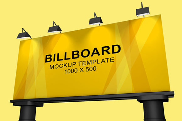 Print on Demand: Billboard Banner Mockup Graphic Product Mockups By PatternHousePk