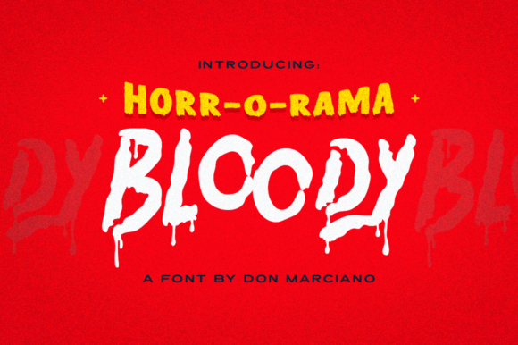 Print on Demand: Bloody Display Fuente Por DonMarciano