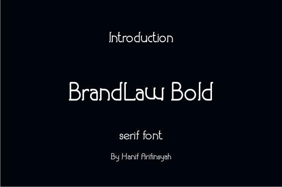 Print on Demand: Brandlaw Bold Serif Font By hanifarifinsyah