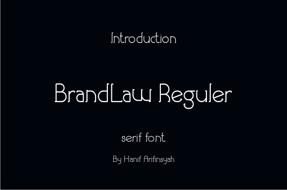Print on Demand: Brandlaw Serif Font By hanifarifinsyah