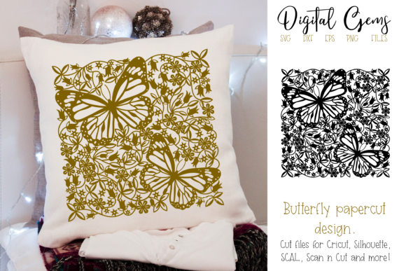 Butterfly Papercut Design Graphic Crafts By Digital Gems
