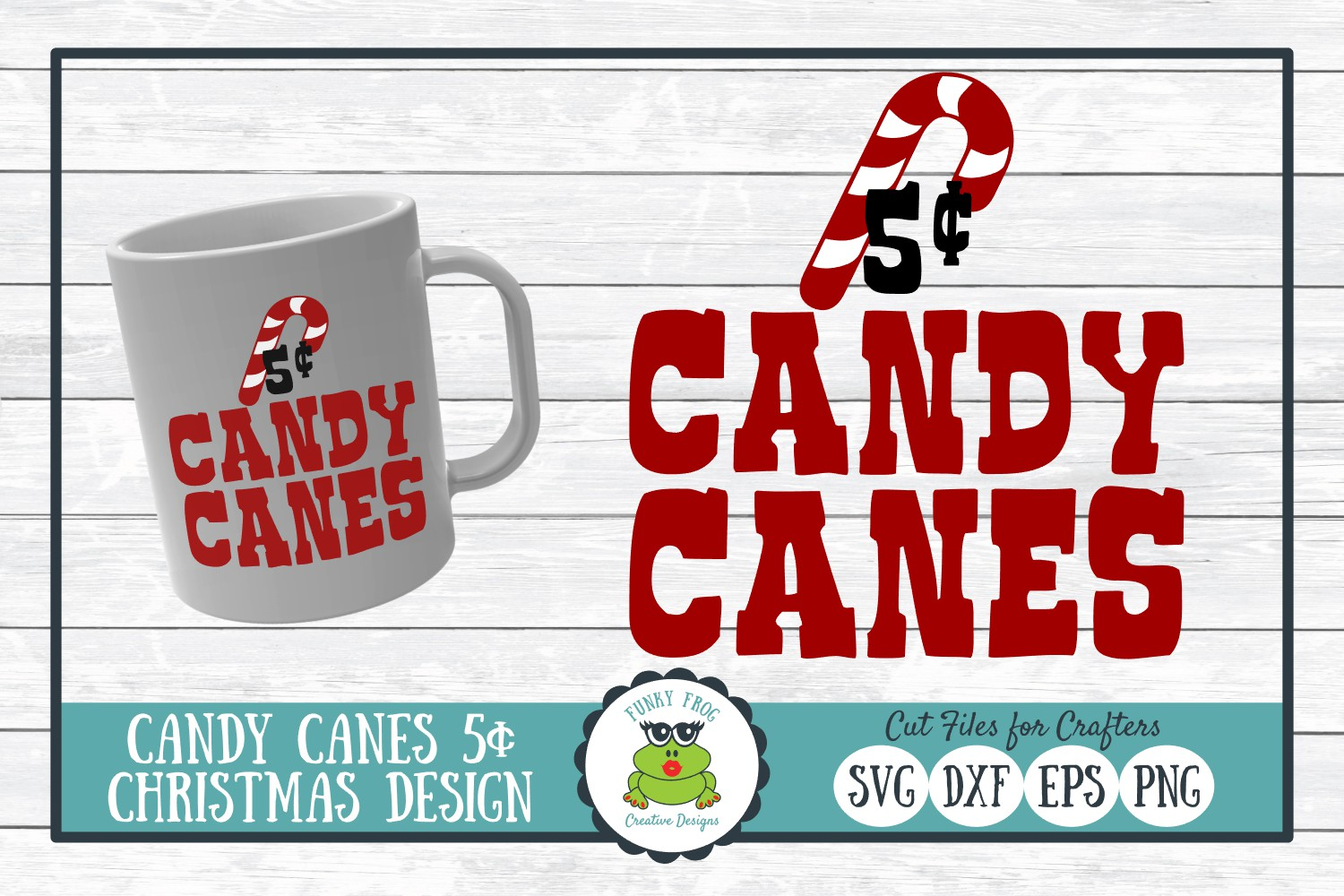 Download Free Candy Canes 5 Cents Graphic By Funkyfrogcreativedesigns for Cricut Explore, Silhouette and other cutting machines.