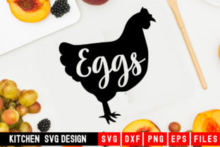 Print on Demand: Chicken Eggs Graphic Crafts By Designdealy