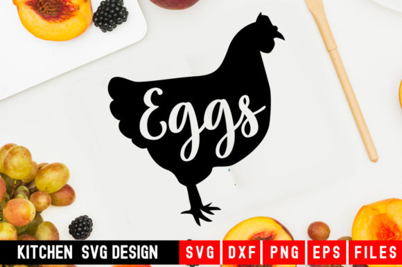 Print on Demand: Chicken Eggs Graphic Crafts By Designdealy.com