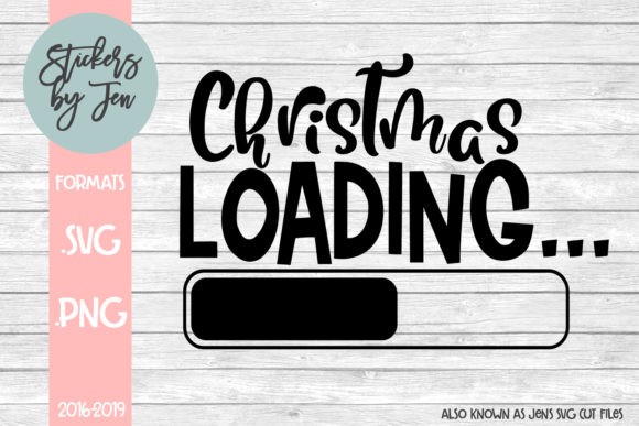 Christmas Loading Graphic By Stickers By Jennifer Creative Fabrica